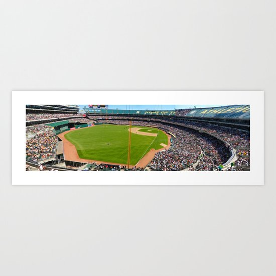 Oakland A's Panoramic Art Print