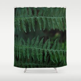 Green leaves of Christmas tree Shower Curtain
