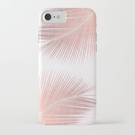 Palm leaf synchronicity - rose gold iPhone Case