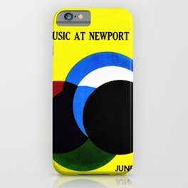 1961 Newport Jazz Festival Vintage Advertisement Poster Newport, Rhode Island iPhone Case