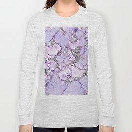 Lavender Marble Long Sleeve T-shirt