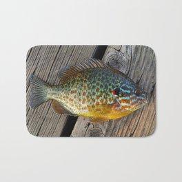 Fish On Wood Bath Mat