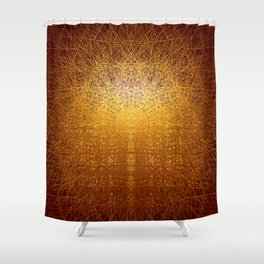 Sunrise in Shangri-La - Abstract Metal Painting Shower Curtain
