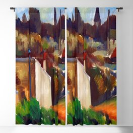 Anton Lindforss Town View of France Blackout Curtain
