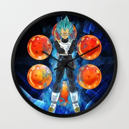 Dragon Ball Super Vegeta Super Saiyan Blue Wall Clock