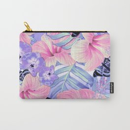 Tropical Spring Lavender Carry-All Pouch