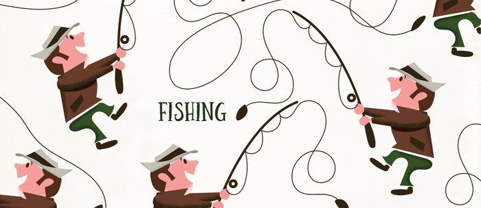 Fishing pattern of a fisherman Coffee Mug