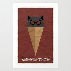 Catwoman Cordial Art Print