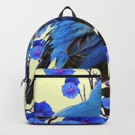 BLUE BIRD & BLUE MORNING GLORIES ART FROM  SOCIETY6 BY SHARLESART. Backpack