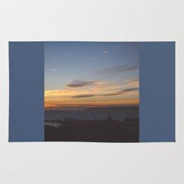 Sunset over Mana Island New Zealand Rug