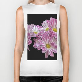 isolated daisy on black background Biker Tank
