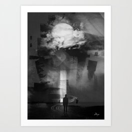 In the cold I'm standing Art Print