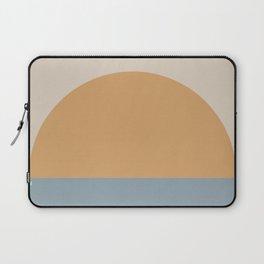 Minimal Retro Sunset / Sunrise - Ocean Blue Laptop Sleeve