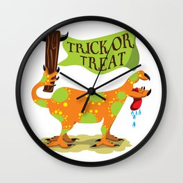 Hand Dog - Trick or Treat Wall Clock