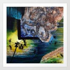 Literary Octopus Art Print