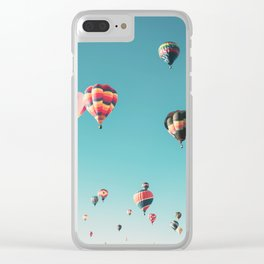 Hot Air Balloon Ride Clear iPhone Case
