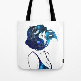 blowing  universe mind. Tote Bag