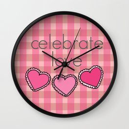 Celebrate Love! Wall Clock