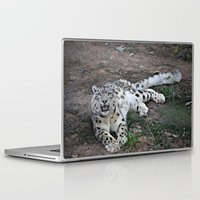 snow leopard Laptop & iPad Skins featuring Snow Leopard by Kaleena Kollmeier