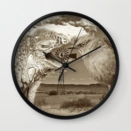 Tourists in Namaqualand at Night Wall Clock