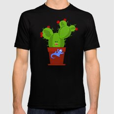 my dear cactus Black Mens Fitted Tee MEDIUM