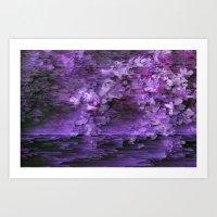 Purple Petal Art Print
