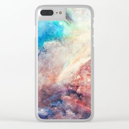 Watercolor paint Clear iPhone Case