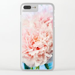 Peony Flower Photography, Pink Peony Floral Art Print Nursery Decor A Happy Life  - Peonies 1 Clear iPhone Case
