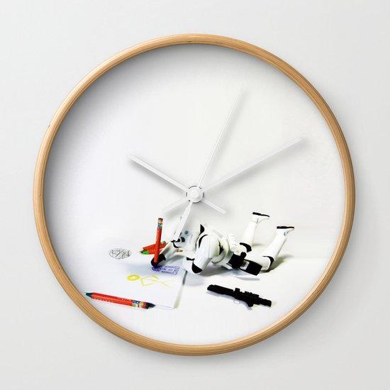 Drawing Droids Wall Clock