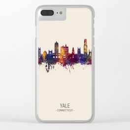 Yale Connecticut Skyline Clear iPhone Case