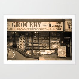 Brooklyn Storefront 2001 Sepia Art Print