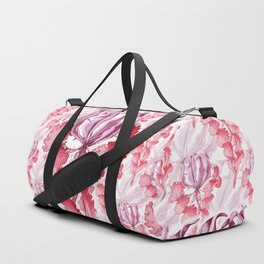 Vortex Floral Pattern from the Impossible Florals Series Duffle Bag