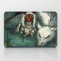 princess mononoke iPad Cases featuring Princess Mononoke by The-MoonSquid