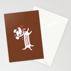 Dog kisses Stationery Cards
