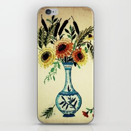 stitches of flowers. iPhone Skin