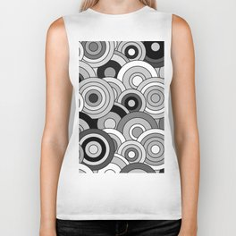 African Style No20, Black and White Biker Tank