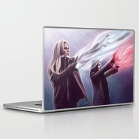 evil queen Laptop & iPad Skins featuring The Savior and the Evil Queen by Svenja Gosen