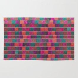 """Full Color Squares Pattern"" Rug"
