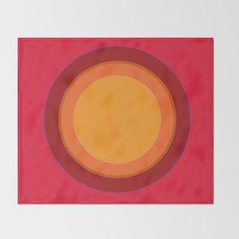 That 70s Sun spot - Kapow Red! Throw Blanket