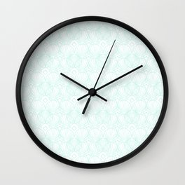 Miami Beach Motel- Mint Wall Clock