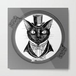 Black cat / Mikhail Metal Print