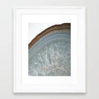 agate Framed Art Prints featuring Agate by CAROL HU