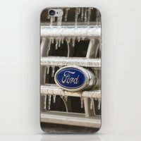 ford iPhone & iPod Skins featuring Cold Ford  by Joy Colmerauer