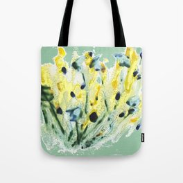 Minty Green Meadow Tote Bag