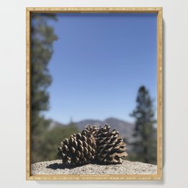 Pine Cone View Serving Tray
