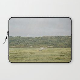 Boat on the grass Laptop Sleeve