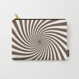 Swirl (Coffee/White) Carry-All Pouch