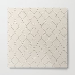 Alva Subtle Line Pattern - Smoke Metal Print