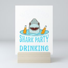 Weekend Forecast: Shark Party with Drinking Mini Art Print