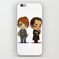 crowley iPhone & iPod Skins featuring Naomi & Crowley by Ravenno